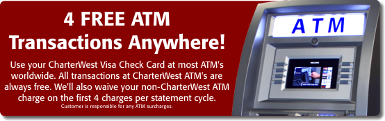 4 Free ATM Transactions